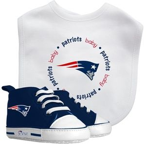 NFL New England Patriots Baby Bib & Pre Walker Set